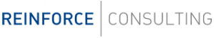 Reinforce Consulting logo azul y gris fondo transparente 320 pxl